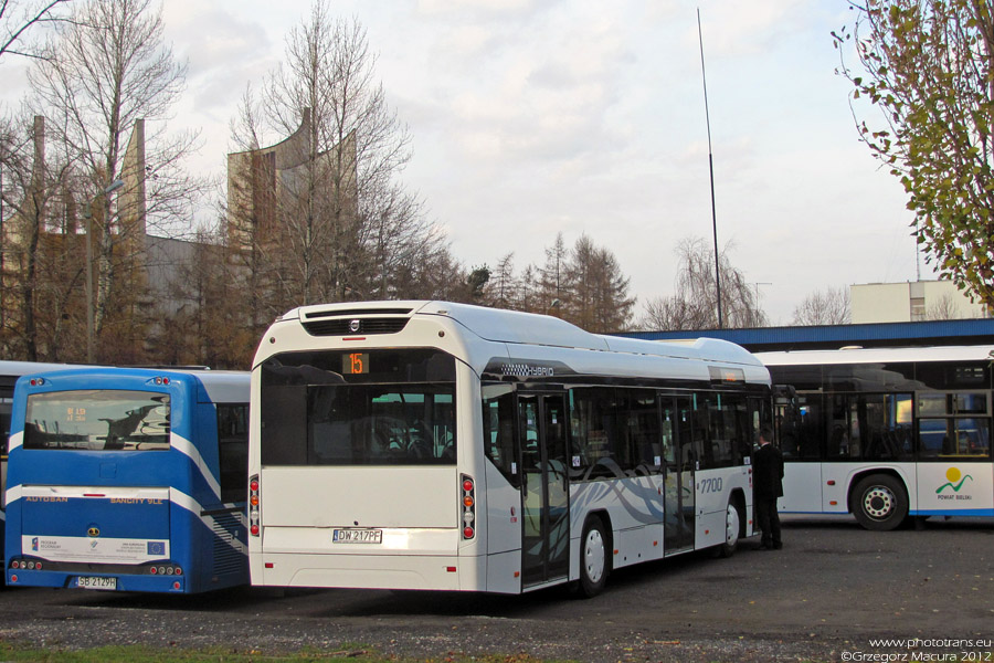 Hybrydowe Volvo na testach w Bielsku