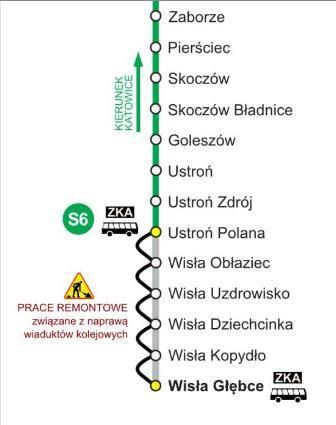 Przez 2 tygodnie do Wisły nie dojedziesz pociągiem!