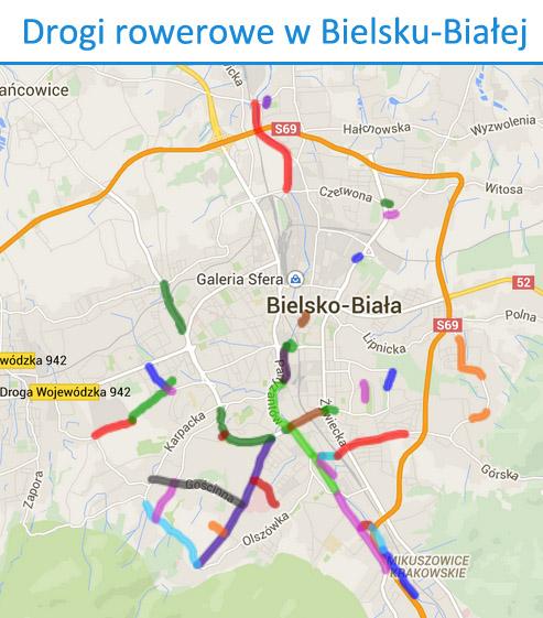 Drogi rowerowe Bielsko-Biała