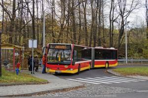Bielsko-Biała: Objazd na ul. Karpackiej [linia 7]