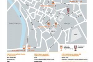 Cieszyn: Przystanek pod Zamkiem – UWAGA! zmiana miejsca odjazdów autobusów