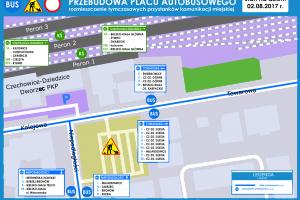 Czechowice-Dziedzice: Rusza przebudowa placu autobusowego. Utrudnienia dla pasażerów oraz kierowców [aktualizacja]